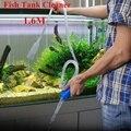 1,6 м инструмент для очистки аквариума, ручной очиститель гравия, водяной насос, аквариумные аксессуары
