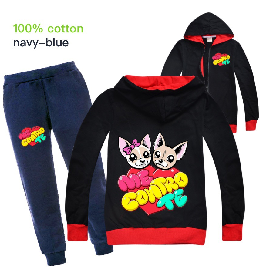 Baby Boys Spring Autumn Me Contro Te Sports Suit 2 Pieces Set Tracksuits Kids Clothing Sets teens girls Clothes jacket Coat Pant 2