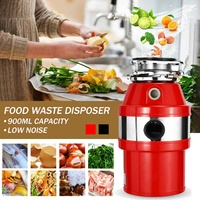 Food Waste Disposer 370W Food Residue Garbage Processor Sewer Rubbish Disposal Crusher Grinder Kitchen Sink Appliance