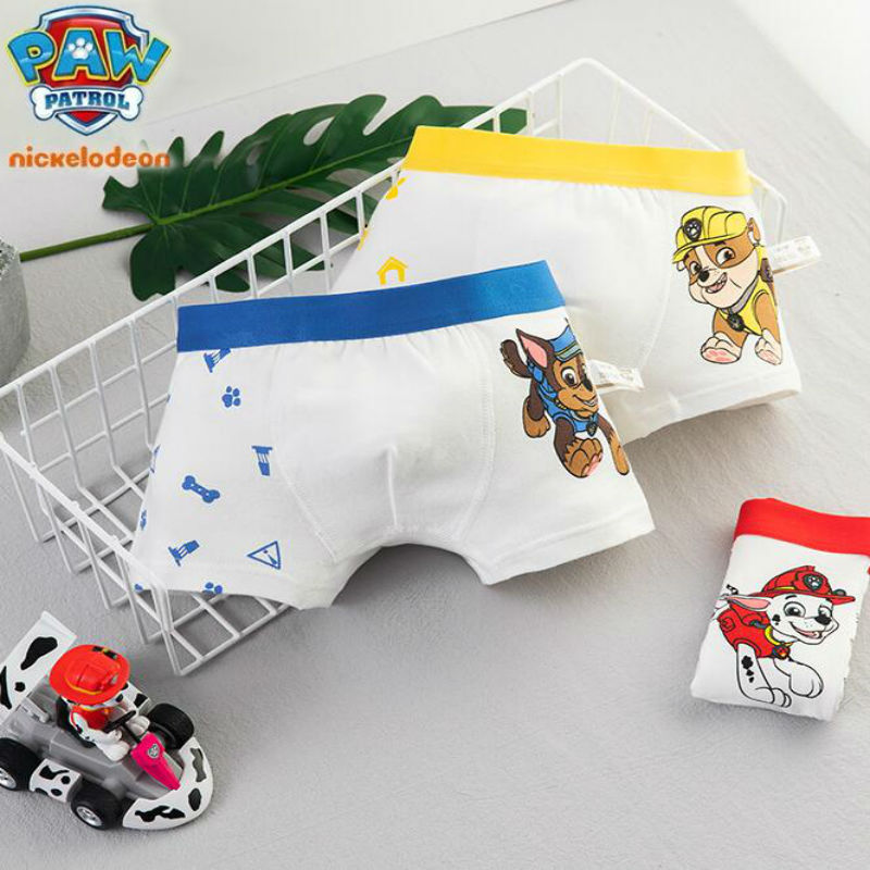 2pcs Genuine Paw Patrol Chase Marshall Rubble Boy Girl Cartoon Underwear Kids Cotton Panties Children Toy Birthday Gift Doll Hot