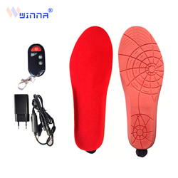 NEW Heated Insoles with Wireless Remote Control Battery Powered for Men and Women Winter Thermal Heating Insoles EUR Size 41-46