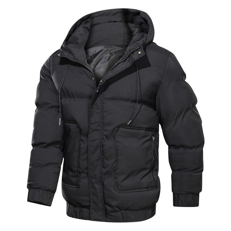 2019 куртка мужская зимняя, парка для мужчин, одноцветная, с капюшоном, на молнии, утолщенная, теплая, пальто для мужчин, водонепроницаемая, мужские, s, парки, мужские куртки и пальто ,зимняя куртка мужская|Парки|   | АлиЭкспресс