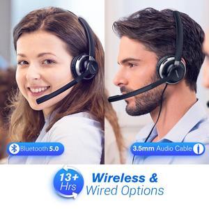 Image 5 - Mpow HC3 Bluetooth 5.0 casque double bruit suppression Microphone clair sans fil et filaire casque pour ordinateur portable Center dappels téléphones