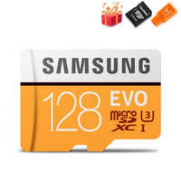 Carte Microsd SAMSUNG 256G 128 go 64 go 100 mo/s Class10 U3 32 go 95 go/s U1 SDXC Grade EVO carte Micro SD carte mémoire TF carte Flash