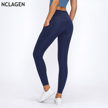 NCLAGEN Double-sided Yoga Pants  Women High Waist Pocket Sports Tights Running Dry Fit Gym Squat Proof Training Fitness Leggings