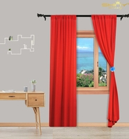 Red Sheer Curtain Living Room 29x120 Inch Blackout Voile Curtains Backdrop Tulle Curtains For Party Decoration M190918