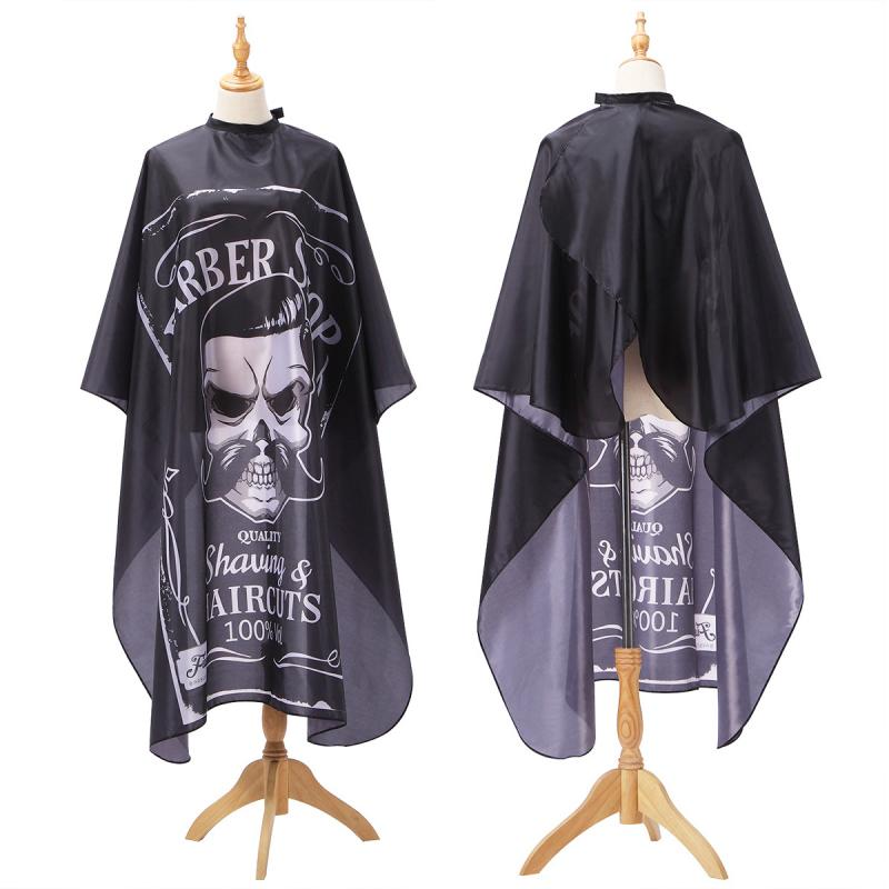 2019 New Haircut Hairdressing Barber Cloth Skull Pattern Apron Polyester Cape Hair Styling Design Supplies Salon Barber Gown(China)