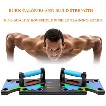 9 w 1 Push Up Rack Board mężczyźni kobiety kompleksowe ćwiczenia Fitness Push-up stojaki System treningu kulturystyki Sport domowa siłownia tanie i dobre opinie LIXADA Ciało Other Push-up Board