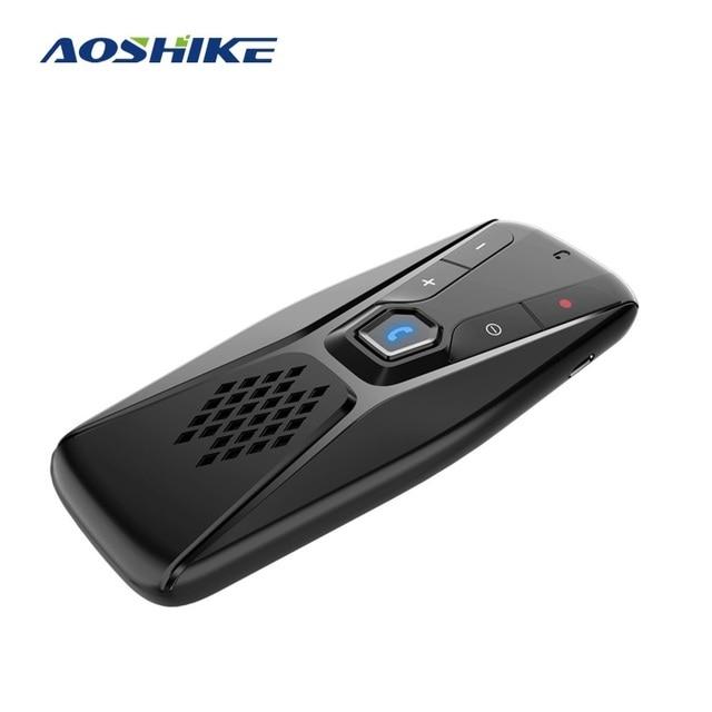 Aoshike kit handsfree bluetooth carro receptor de áudio sem fio viseira sun bt 4.1 mãos livres para chamada telefone speakerphone mp3 player