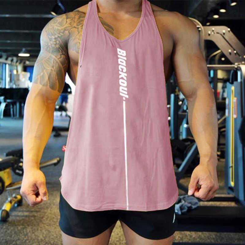 Mens Loose Fitness Tank Tops Sport Gym Workout Bodybuilding Vest Tee Shirt M-2XL
