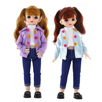 16 styl ubranka dla lalek Bjd 1 6 28 30cm dziecko codzienna odzież akcesoria dla dzieci element ubioru modne lalki zabawki dla dziewczynek fajny prezent tanie i dobre opinie Tkaniny CN (pochodzenie) doll clothes Dziewczyny Moda fit for 11 5 quot -12 quot (30cm) doll Suitable for 28 30cm dolls
