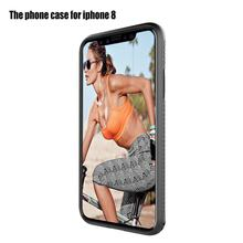 360 Degree Full Protective Ultra Thin Matte Phone Cover Case Full Wrapping Micro Fiber Phone Case for iPhone 8 X(China)
