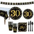 Украшения для вечеринки на день рождения до 30 лет, яркий бумажный баннер для взрослых, украшение для вечеринки 40, 50, 60, 70 лет