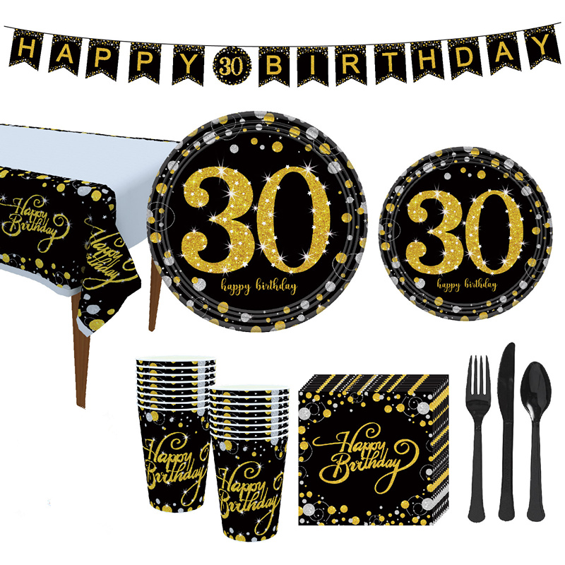 Cheers to <font><b>30</b></font> Years 30th Birthday Party <font><b>Decorations</b></font> Adult Paper Banner Letter Garland 40 50 60 70 Years Party <font><b>Decoration</b></font> image