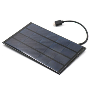DC Solar Panel 400mA 2W 5V USB Micro Output Battery Charger 4