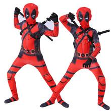 Deadpool Deadpool kombinezon kostium na halloween dzieci Deadpool przebranie na karnawał dla dorosłych tanie tanio Kombinezony i pajacyki Nakrycia głowy Film i TELEWIZJA Unisex Zestawy Kółka G103 Poliester Kostiumy