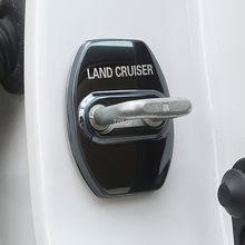 Para toyota land cruiser 200 2008-2020 aço inoxidável fechadura da porta do carro capa acessórios