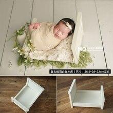2020 accesorios clásicos para fotografía de recién nacidos, cama de madera para sesión de fotos de bebés, accesorios clásicos para estudio fotográfico de niños, cesta de madera para cuna