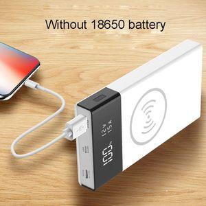 Image 5 - 6x18650 Batterij DIY Qi Draadloze Oplader QC3.0 USB Type C PD Power Bank Box Case Q39D
