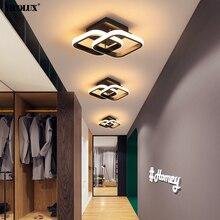 Luces de arañas LED modernas iluminación interior para pasillo, balcón, pasillo, dormitorio, lámparas de interior blancas y negras, Lustre AC 90-260V