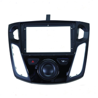 ECTWODVD Special 9inch Car Radio Fascia Frame Dash Panel for Ford Focus 3 2012 2013 2014 2017 Head Unit Car Refitting Stereo