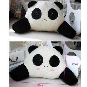 Image 4 - Cartoon Panda Auto Back Support Waist Pillow Cushion Plush Lumbar Pillow for Car Seat Kids Gifts Car Accessories
