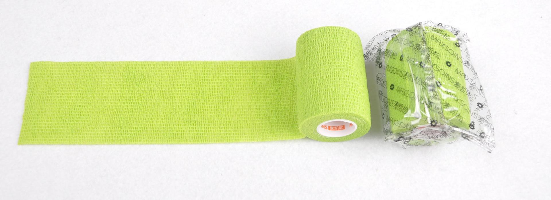 7.5 Cm Grass Green Non-woven Self-adhesive Bandage Sports Bandage Pet Bandage Protective Bandage