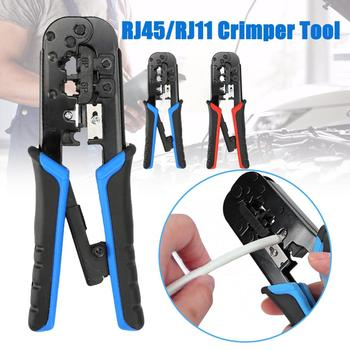 Modular Crimping Stripping Tool Network Cable Cutter Pliers for RJ45 RJ11 Multi-function Peeling Shear