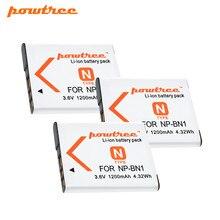 цена на Powtree 1200mAh NP-BN1 NP BN1 NPBN1 battery For SONY DSC WX220 WX150 DSC-W380 W390 DSC-W320 W630 Camera Battery