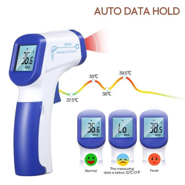 الأشعة تحت الحمراء ميزان الحرارة الرقمي IR قياس درجة الحرارة متر مراقبة درجة الحرارة ميزان حرارة يدوي بالأشعة تحت الحمراء