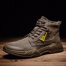 Mùa Đông 2019 Thời Trang Giày Bốt Martin Nam Đen Cao Cấp Hàng Đầu Thoải Mái Giày Nam Bot Botas Zapatos De Hombre Chaussure Homme