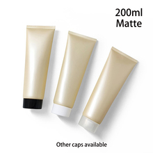 200g Matte Yellow Plastic Tube 200ml Empty Frost Cosmetic Lotion Bottles Skincare Facial Cream Squeeze Containers Free Shipping free shipping 50pcs 5g empty pp cosmetic hose tube cream lotion shampoo containers emulsion handcream facial cleanser soft tubes