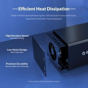 Корпус для жесткого диска ORICO 3,5 8 Bay Type-C, алюминиевый Магнитный Корпус SATA к USB3.1, док-станция для HDD с поддержкой 128 ТБ 5 Гбит/с, чехол UASP HDD
