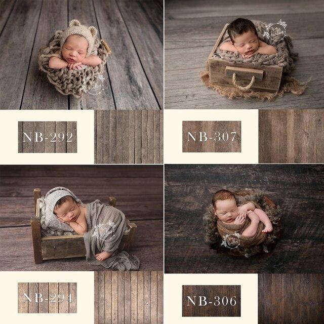 Fondale neonato per la Fotografia Del Bambino Doccia Festa di Compleanno Pavimento In Legno Foto di Sfondo per Bambini In Studio