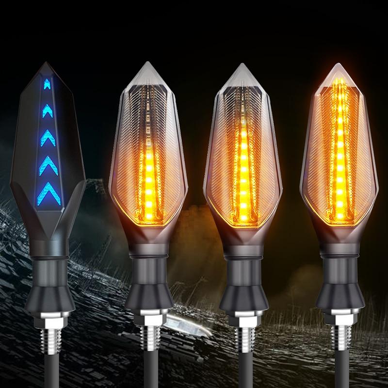 2020 2/4PCS Motorcycle Turn Signals Light Flowing Water Blinker Lamp Motorbike Indicator Tail Flasher Motorcycle New Led Light