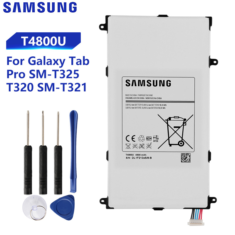 Original Replacement Samsung Battery For Galaxy Tab Pro 8.4 In T325 T320 T321 SM-T321 T4800E T4800C T4800K T4800U 4800mAh