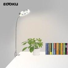 цена на EOOKU Bench Vise USB Table Lamp 3X/5X Magnifying Glass Flexible Desk Lamp Magnifier LED Lights for Reading Working Lighting
