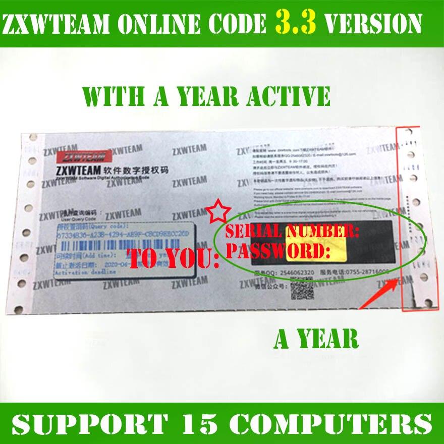 Оригинальный ZXWTEAM ZXWSOFT zxw инструмент 3,3 программное обеспечение мобильный телефон ремонт Рисунок 1 год (без доставки, время ожидания, он-лайн ...