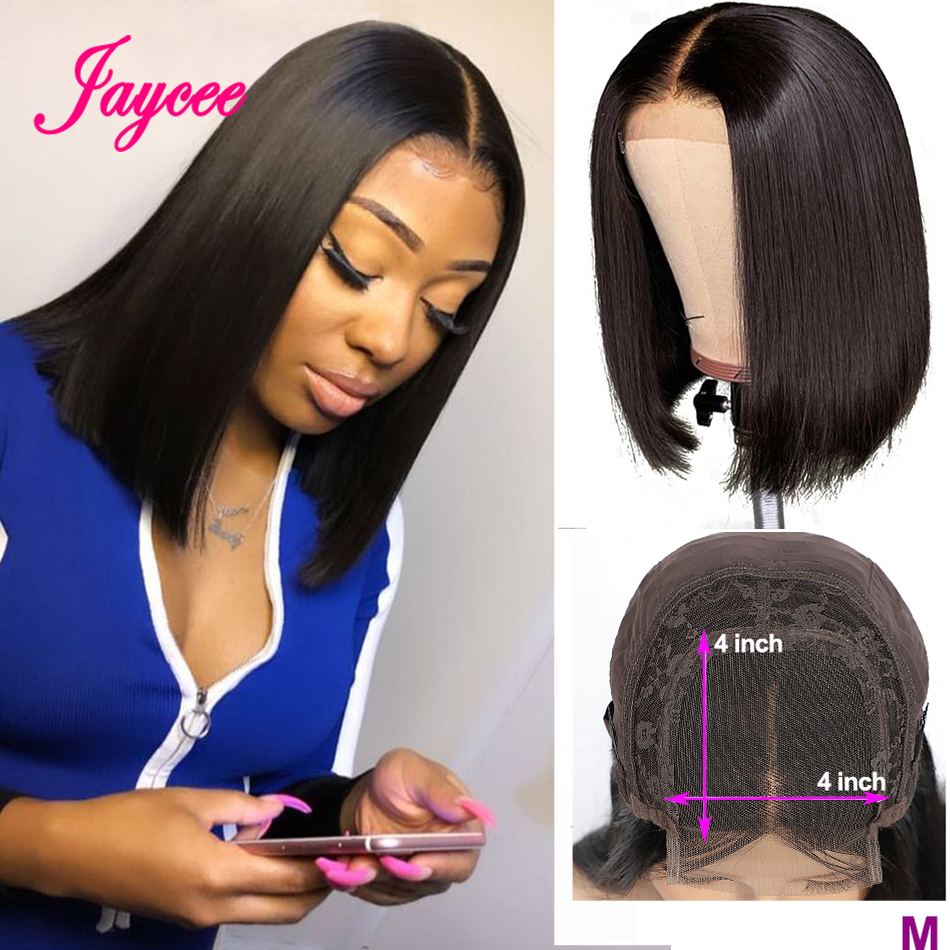 Brazilian Straight Closure Wig Short Human Hair Wigs Bob Lace Front Wigs For Women Natural Hairline Lace Front Human Hair Wigs