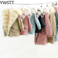Mother Daughter Son Clothes Winter Faux Fur Coat Long Fur Coat Girls Lapel Loose Thick Warm OverCoat Fur Boys Coat Jacket