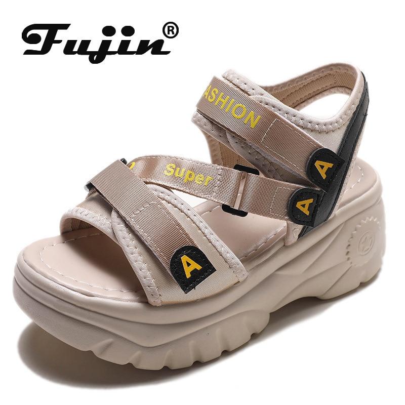 Fujin 2020 Platform Sandals Women Summer Shoes Buckle Thick Heel Casual Sandals Shoes Summer  Sandalias Mujer 2020