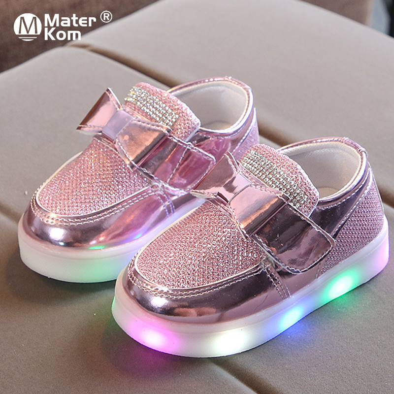 Size 21-30 Children's Luminous Sneakers Kids Glowing Sneakers For Boys Girls Led Baby Lighted Shoes Sneakers With Luminous Sole