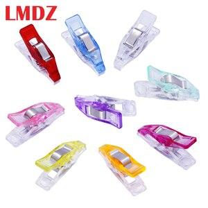 Lmdz 20/50 Pcs Naaien Clips Mini Multicolor Plastic Clips Stof Klemmen Patchwork Clips Kleding Clips Houder Quilten Clip(China)