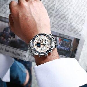 Image 3 - CURREN Marke Männer Sport Uhren Kausalen Edelstahl Band Armbanduhr Chronograph Auto Datum Uhr Männlich Relogio Masculino