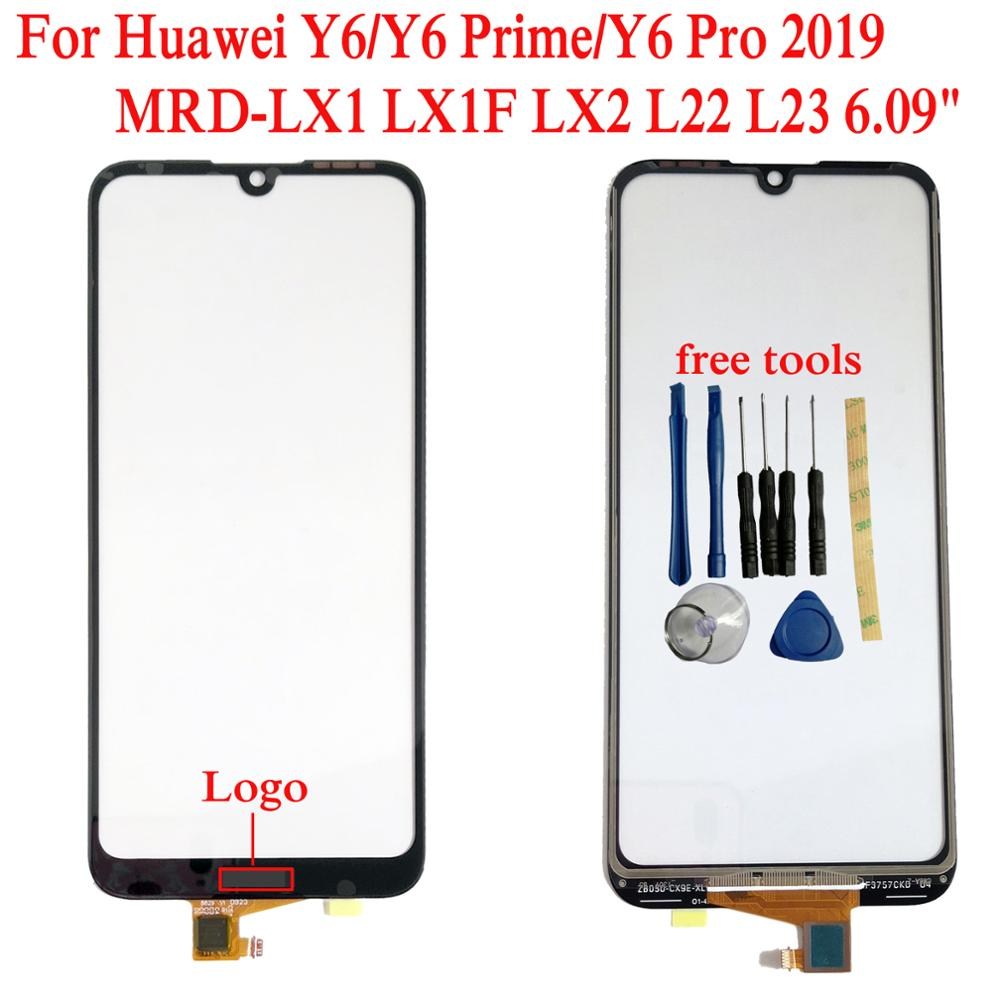 """פלאזמה Shyueda 100% בניו 6.09"""" עבור Huawei Y6 / ראש Y6 2019 MRD-LX1 LX1F Outer קדמי מסך זכוכית Touch (1)"""