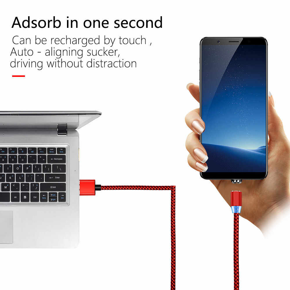 1 متر كابل مغناطيسي المصغّر usb نوع C الإضاءة بيانات سلك ل Samaung هواوي LG G7 G6 V30 V40 G8 K7 K10 K8 K4 شاحن الهاتف المحمول