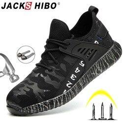 JACKSHIBO ZAPATOS DE TRABAJO DE SEGURIDAD DE INVIERNO botas para hombres hombre antigolpes de acero punta botas de construcción botas de seguridad trabajo