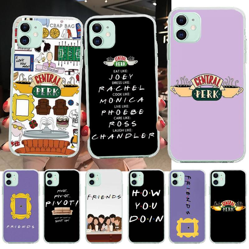 PENGHUWAN Central Perk Coffee <font><b>friends</b></font> <font><b>tv</b></font> show how you doin Phone <font><b>Case</b></font> for <font><b>iPhone</b></font> 11 pro XS MAX 8 7 6 6S Plus X 5S SE XR cover image