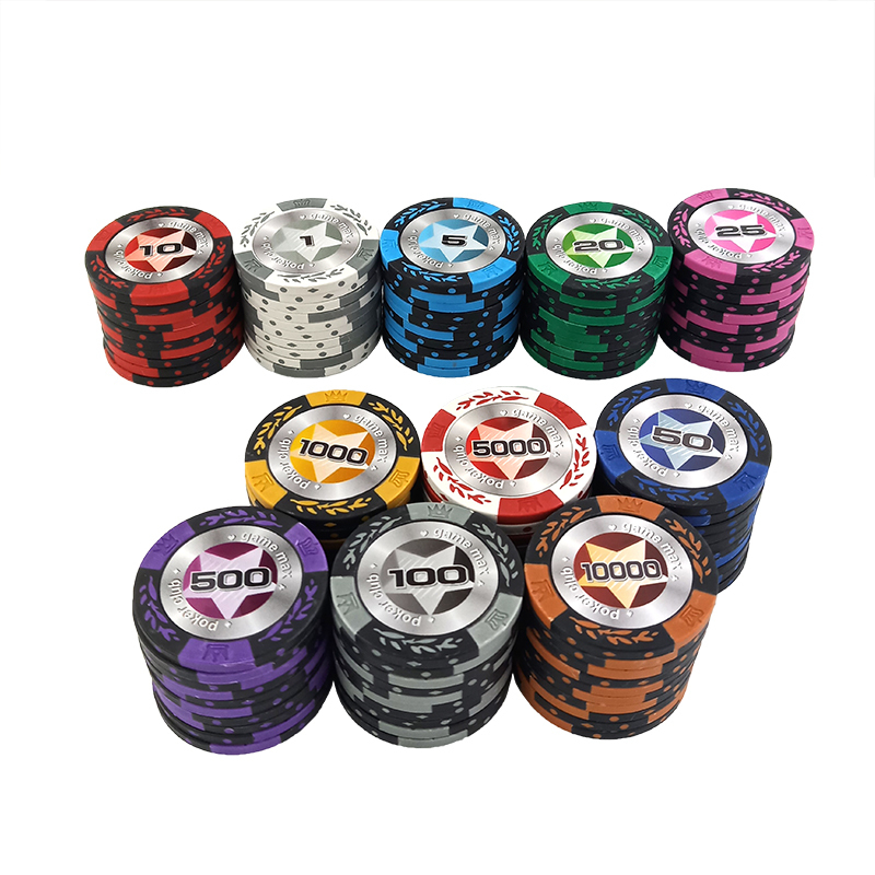 New 1PCS 14g Poker Chips For Poker Set Poker Star Baccarat Upscale Texas Hold'em Clay Set Poker Playing Chips Set