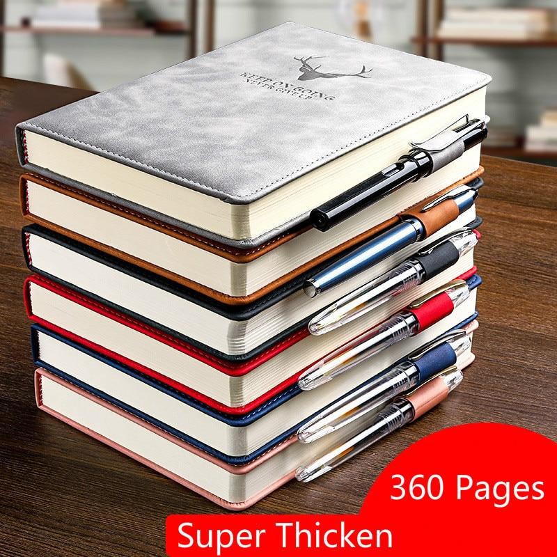 A5 360 páginas super engrossar couro do plutônio diário notebook escola escritório trabalho notebook planejador criativo notebook 2021 agenda
